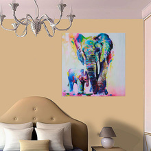 1pcs Abstract Elephant Wall Art Canvas Printing For Home Decoration Living Room Painting Prints Modern Painting-