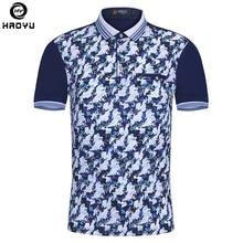 Купить с кэшбэком Brand New Men Polo Homme Slim Fashion Pattern Printing Summer Short Sleeve Mercerized Cotton Camisa Polo Shirt Men Plus Size