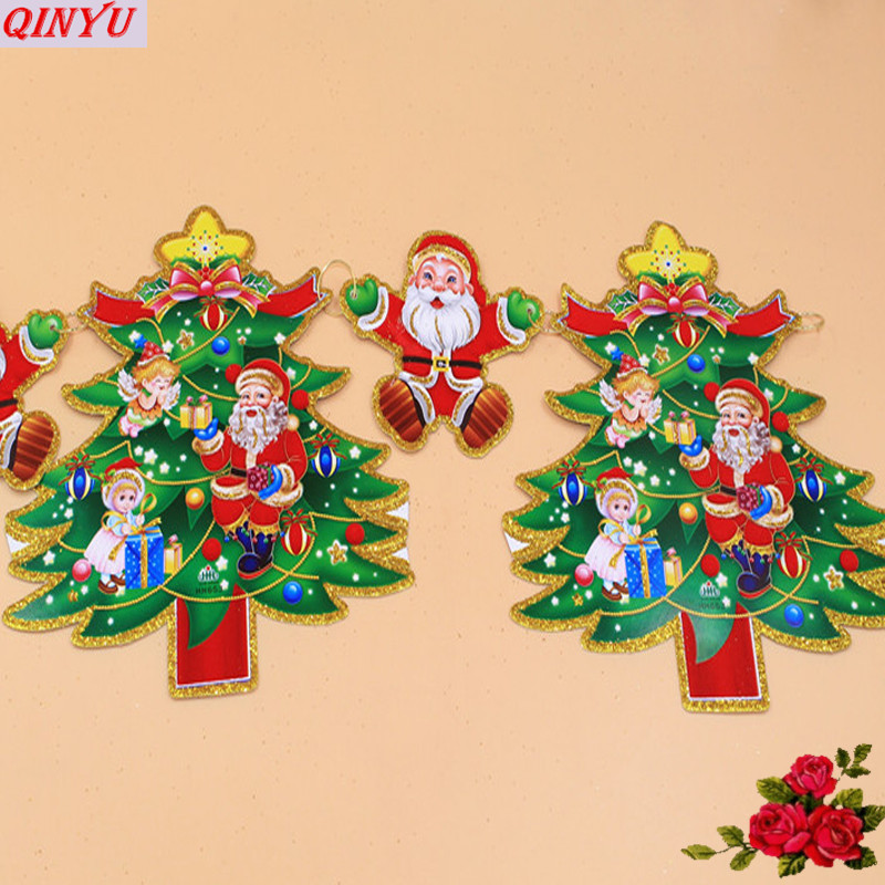 Famous Paper Christmas Tree Wall Decoration Illustration - Wall Art ...