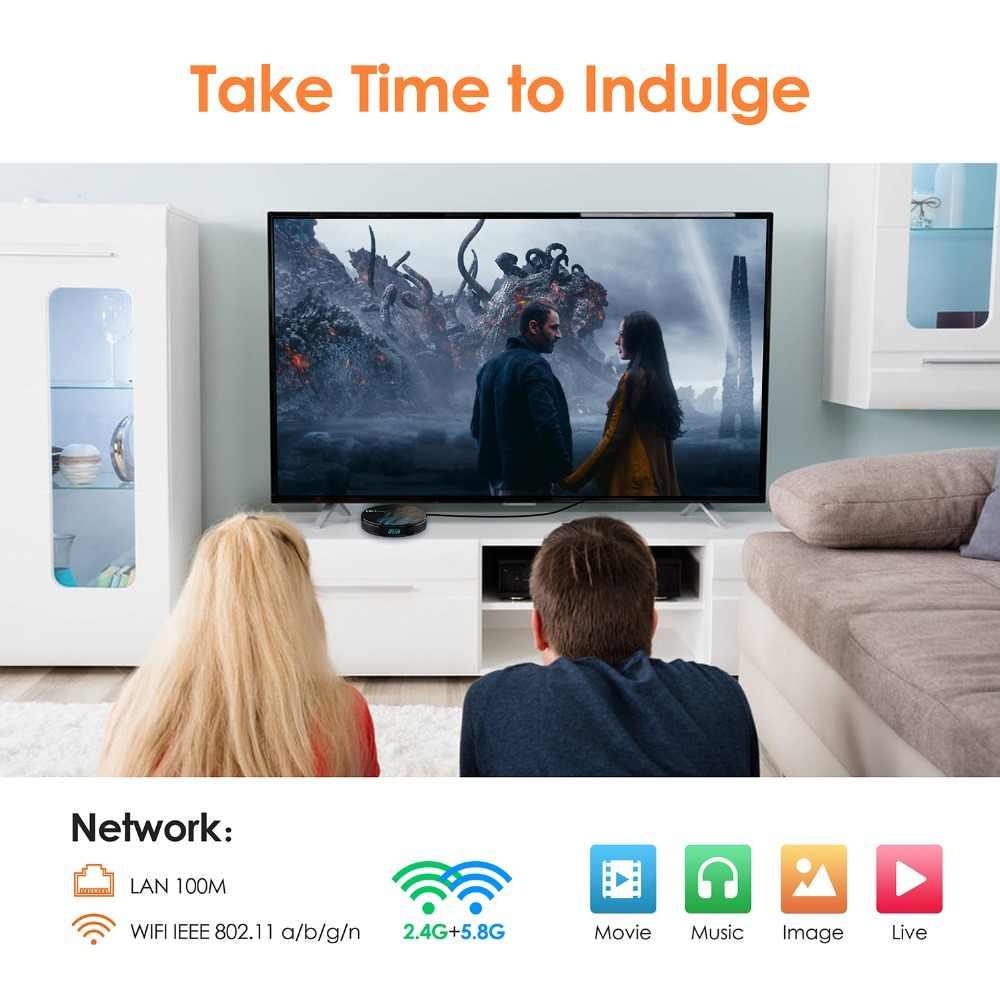 Android 9,0 Smart tv BOX Google Assistant RK3328 4G 64G ТВ приемник 4 K Wifi медиаплеер Play Store Бесплатные приложения быстрый набор верхней коробки