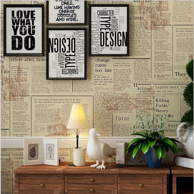 online buy wholesale vintage newspaper wallpaper from. Black Bedroom Furniture Sets. Home Design Ideas