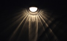 Waterproof Solar Powered LED Wall Lamps 4 pcs Set