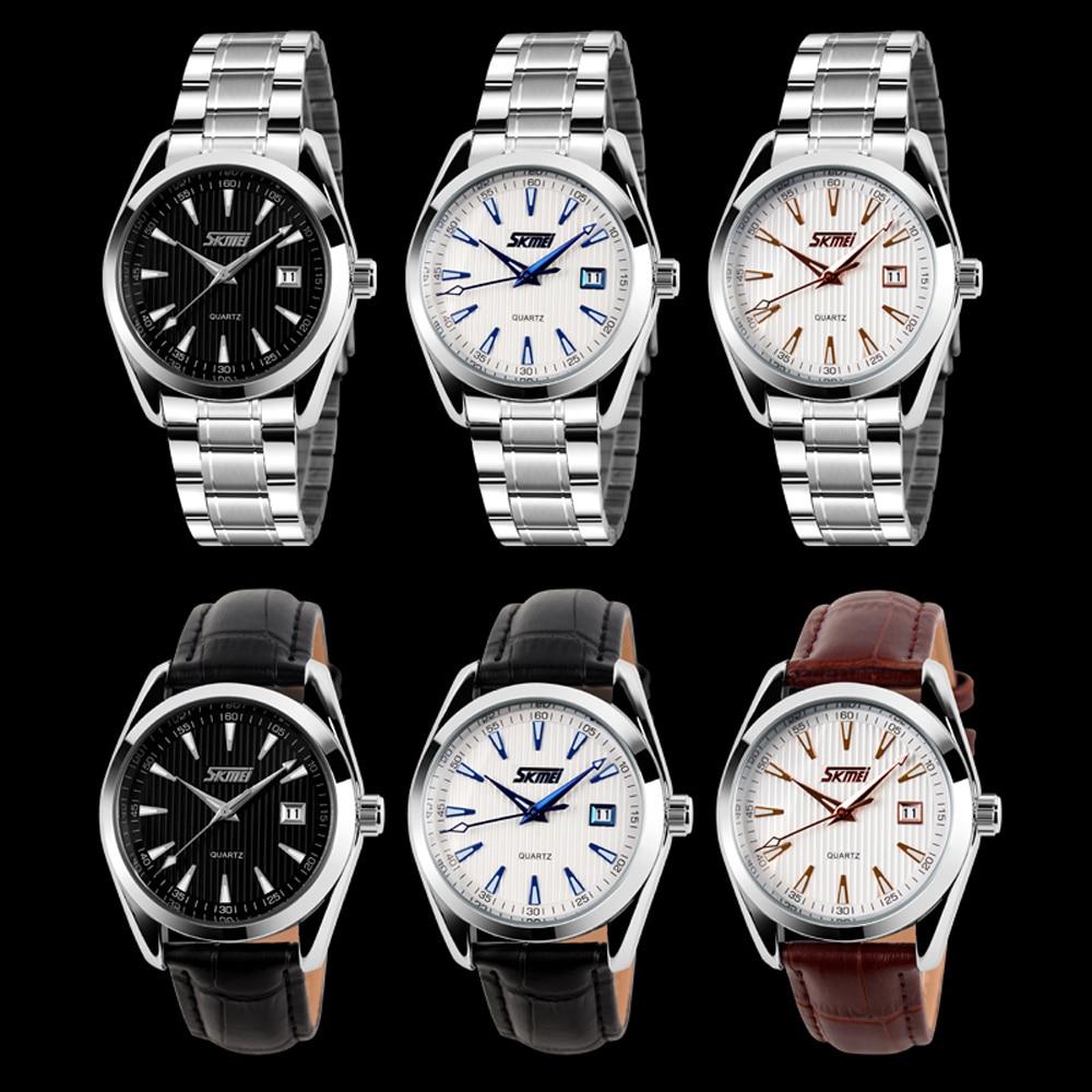 Skmei Steel Noctilucent Men s Digital Analog Quartz Leather Wristwatch