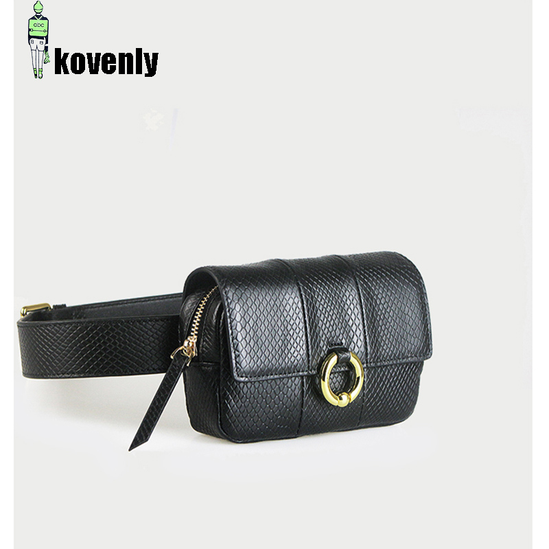 c86ca344623 US $15.05 49% OFF|Women Waist bag Serpentine Pu leather Fanny Bag Fashion  Snakeskin Waist Packs Shoulder Slant Mini Lady Bum Pack Chest bags 61-in ...