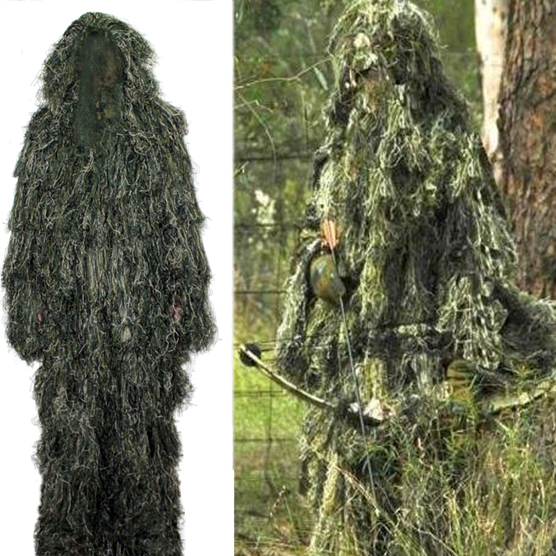Military Sniper Ghillie Suit Tactical Airsoft Wargame camouflage hunting clothes winter outdoor sports camouflage clothing hunting clothes sniper tactical jacket ghillie suit hunting camping fishing