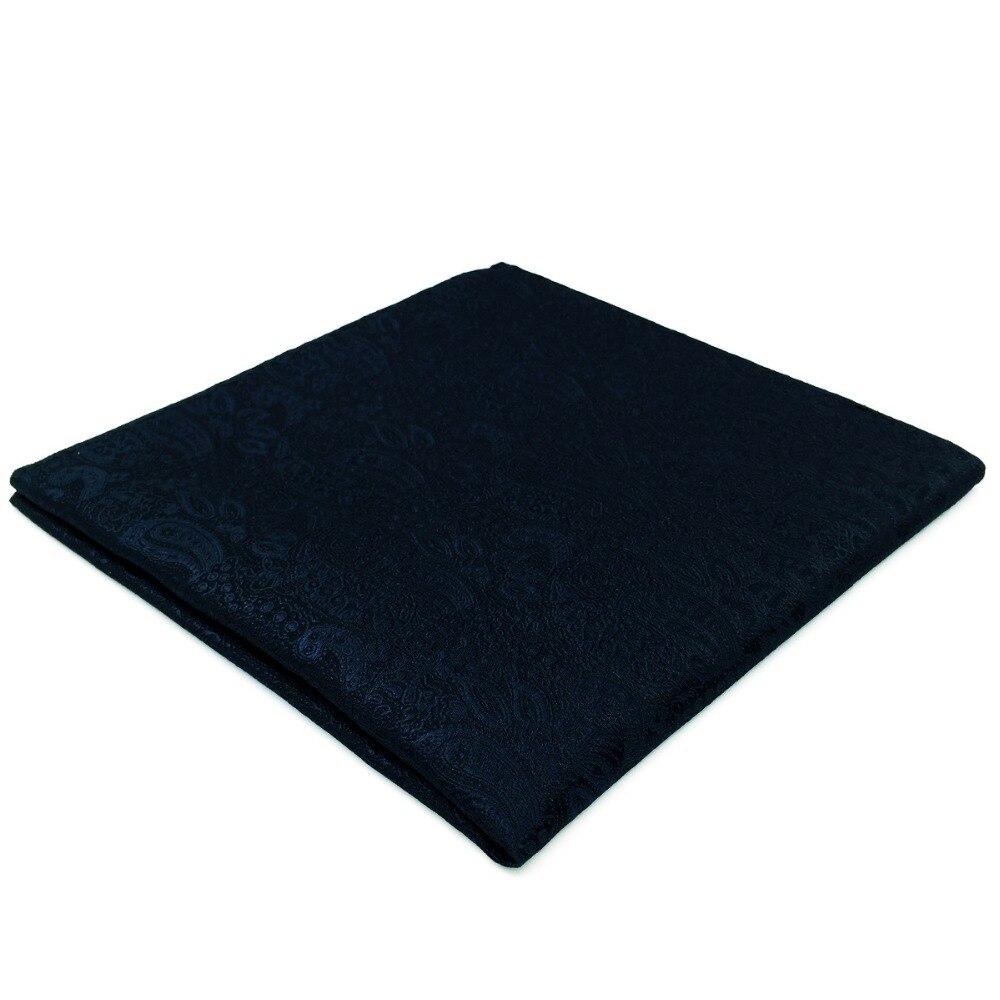 EH14 Navy Blue Silk Mens Pocket Square Fashion Classic Handkerchief Hanky