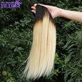 7а класс virgin необработанные человеческих волос бразильский прямо девы волос 1b 613 связки бразильского виргинские волос с пучками ombre