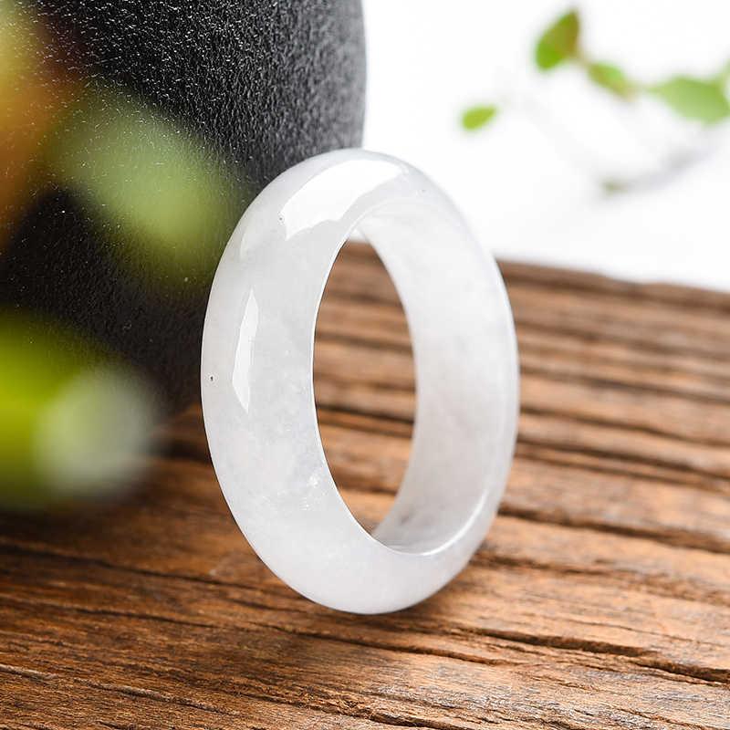 หยกหยกแหวนขายตรงรูรับแสงชายแหวนหยก moisturizing หยกประณีตแหวน class ลายนิ้วมือ