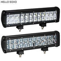 HELLO EOVO 4D 5D 12 Inch Real Power LED Light Bar For Work Indicators Driving Offroad