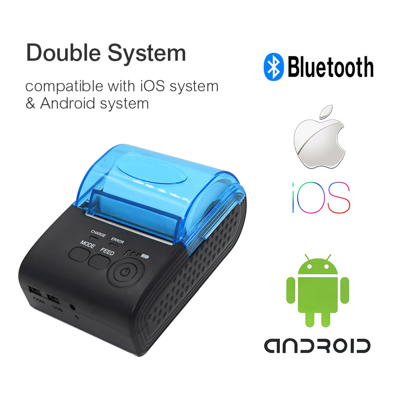 ZJiang 58mm Thermal Ticket Printer Wireless Portable Printer Mini Bluetooth Pos Receipt for iOS Android Windows POS-5805DD freeshipping mini bluetooth thermal printer 80mm receipt ticket printer pos printer machine for thermal printer android ios