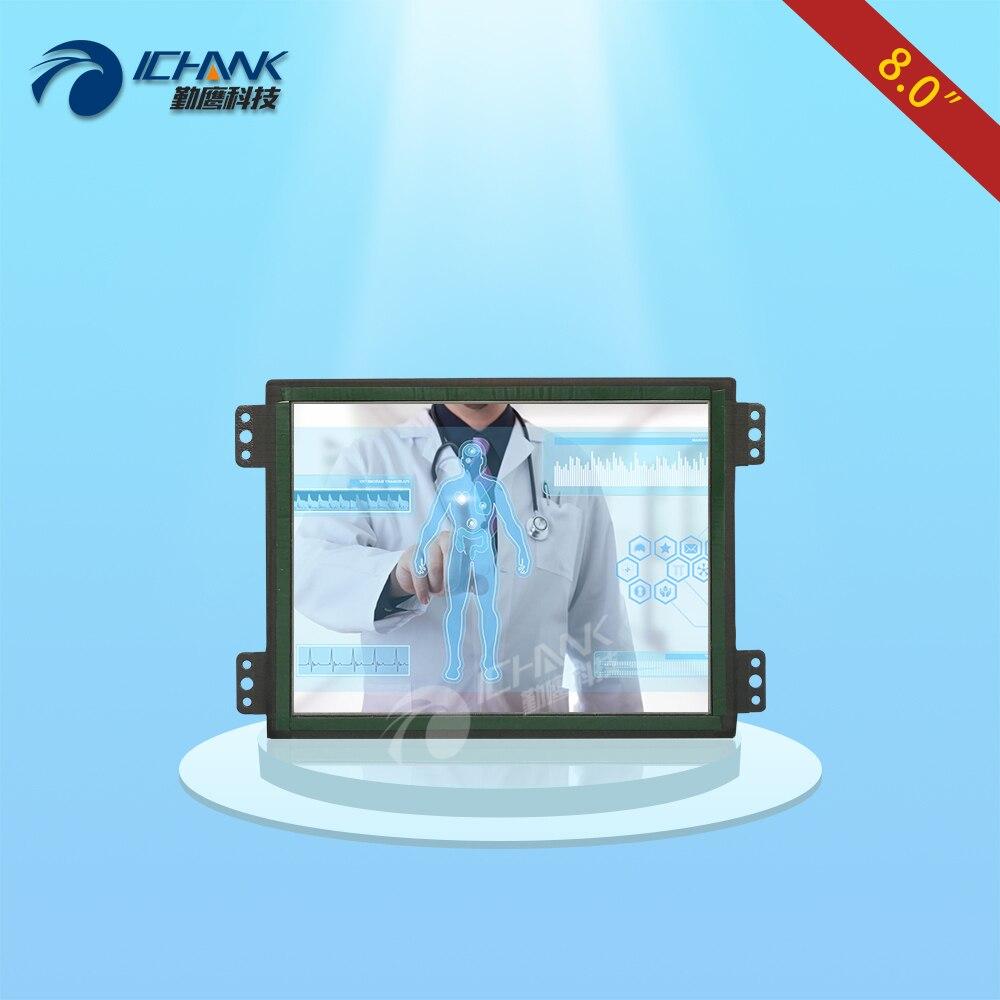 ZK080TC-LRD/8 1024x768 HDMI Intégré Cadre Ouvert Moniteur à Écran Tactile Capacitif/8 pouce Intégré De Montage Oreille tactile LCD Écran D'affichage