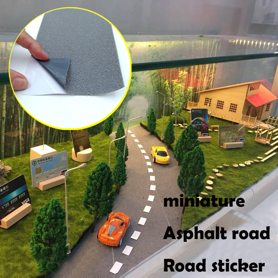 Miniature  Asphalt Road  Road Sticker  Road Marking Paper  DIY Material For Scene Sand Table