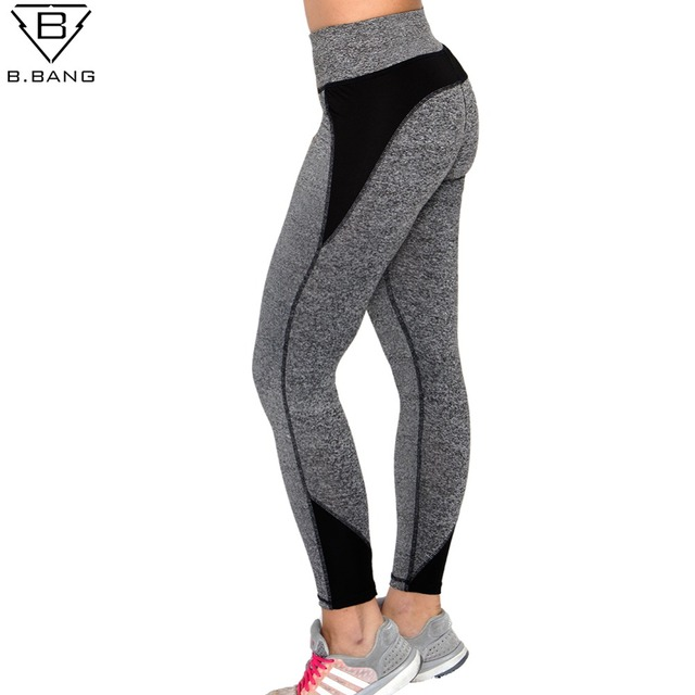 be697627def B.BANG Women Yoga Pants Sport Fitness Running Sportswear Tights Quick Drying  Compression Trousers Gym Slim Legging