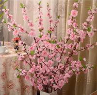 Door Lintel Flower 50 128cm Artificial Cherry Tree Branch Silk Flower Spray Wedding Decor Sakura Cherry