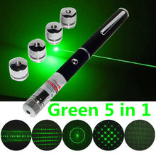 Hot Wireless Remote Green 5 In 1 Presenter Powerpoint Laser Pointer Presentation Remote Pen 40g With Richer Applications