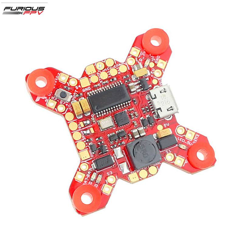 New Arrival Furious FPV FORTINI F4 <font><b>32Khz</b></font> 16MB Flight Controller with OSD Rev.2 5V 2A BEC for RC Drone FPV Racing image