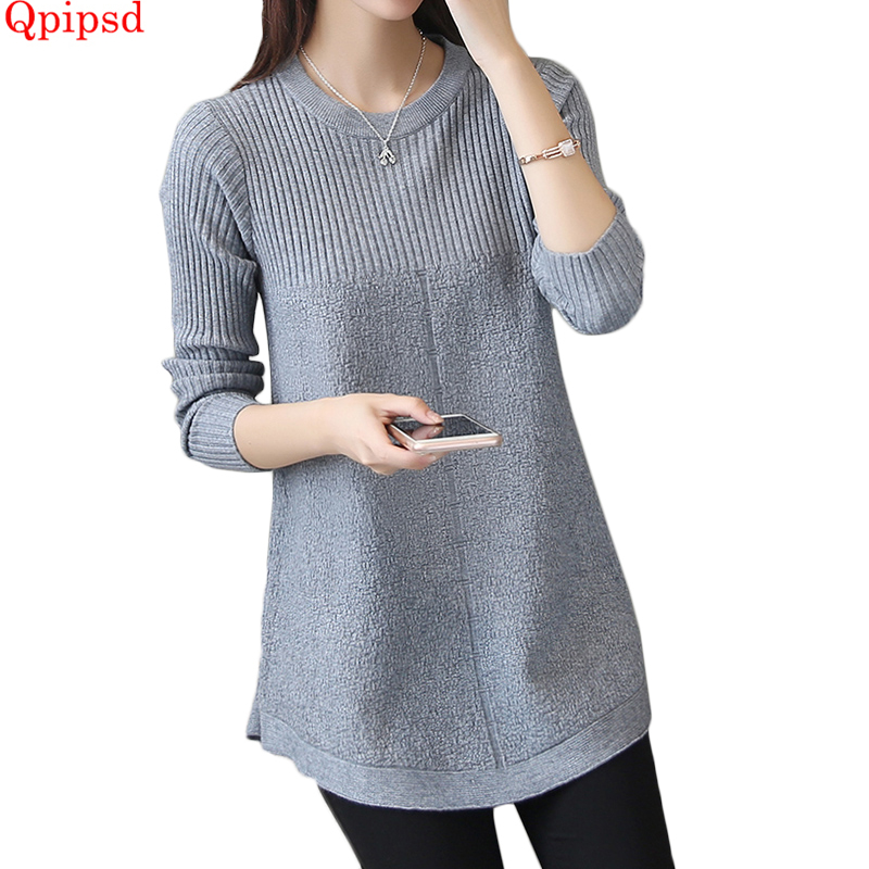 Sweaters Autumn Winter Warm Pullovers Sweaters Women Long Slim Sweater Female Long Sleeve Knitted Pullovers Loose Soft Sweater