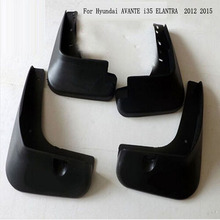 Mud Flaps Guard Mudguard Fenders Splash Flaps For Hyundai AVANTE I35 For ELANTRA 2012 2015 Auto  Car Styling  Accessories