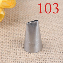 103# Rose Petal Metal Cream Tips Cake Decorating Tools Steel Icing Piping Nozzles Cupcake Pastry Tool