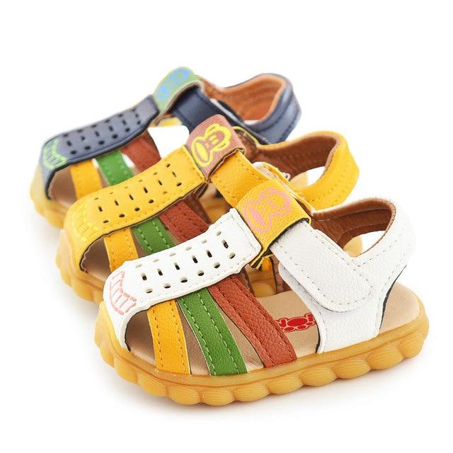 db8f611e59495 Bébé sandales garçon D été semelle souple en cuir Chaussures ...