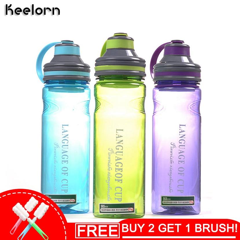Keelorn 280ml 1000ml Creative 3 krāsu manu portatīvo telpu ūdens pudeles ar tējas infūziju augstas kvalitātes stila sporta pudeli