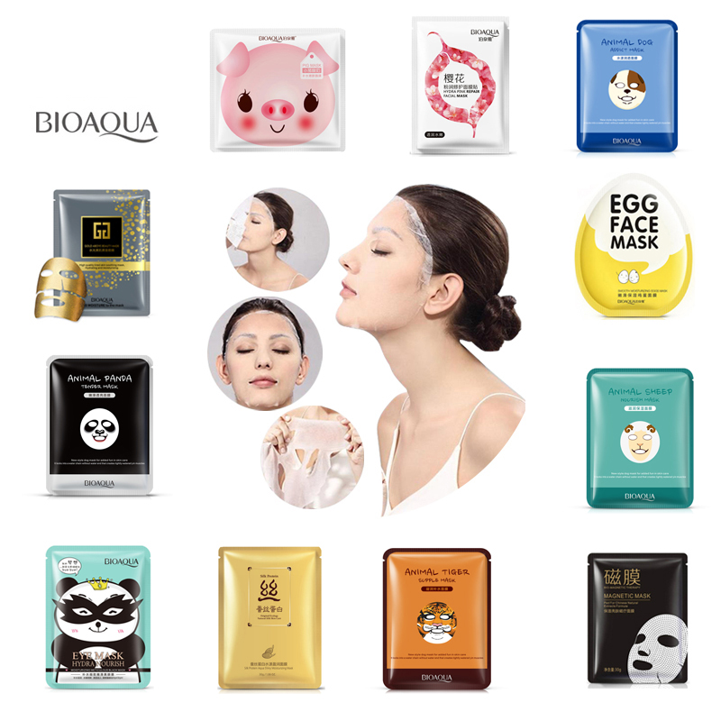 BIOAQUA Skin Care Plant Facial Mask Moisturizing Oil Control Blackhead Remover Wrapped Mask Face Mask Face Care