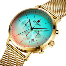 Golden Watch Men Luxury Brand Men Quartz Sports Military Watches Cool Creative Discoloration Watch Male Clock Relogio Masculino недорого