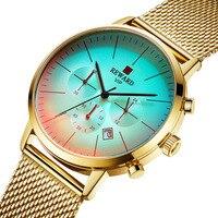 Relógio de ouro Dos Homens de Luxo Da Marca Homens De Quartzo Relógios Desportivos Militar Legal Criativo Descoloração Relógio Masculino Relógio Relogio masculino|Relógios de quartzo| |  -