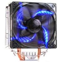 Pccooler X5 5 Heat pipe 120mm fan led 4pin PWM for Intel 775 1151 1155 1150 1156 AMD AM4 AM3 CPU cooler heat sink fan radiator