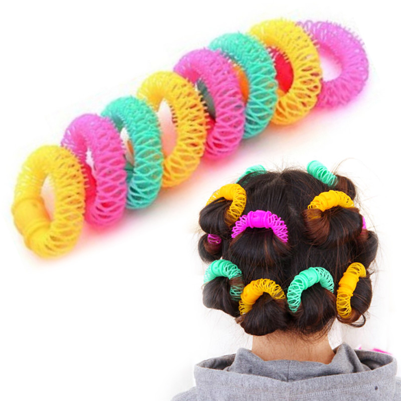 Hairdress Magic Hair Curler Spiral Curls Roller Donuts Curl Hair Styling Tool Hair Accessories DIY 8 Pcs 7cm*6 Cm