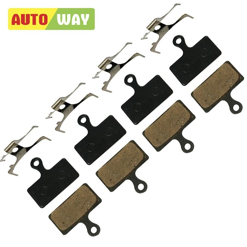 4 páry Autoway MTB brzdové destičky pro Shimano XT M785 M960 M615 Deore TR M985 M987 M988 M666 M675 S700 R517 Tektro Parts
