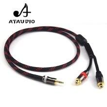 ATAUDIO Hifi 3.5mm Maschio a RCA Femmina Cavo 4N OFC 3.5 a RCA Audio Cable