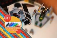 05030 722Pcs Star And Vader Wars Tie Advanced VS A Star Wing Fighter Set Building Blocks