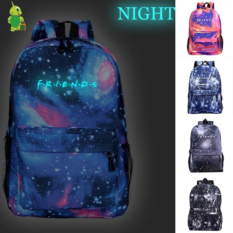 Mochila Friends Backpack Casual Travel Bags Women Men Laptop Backpack Luminous School Bags For Teenage Boys Girls Kids Book Bags