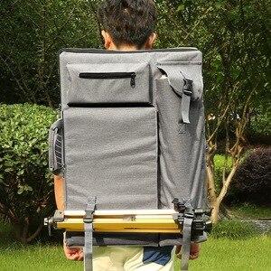 Image 2 - Büyük sanat çantası çizim tahtasında boyama seti seyahat kroki çantası çizim araçları sanatçı tuval boyama sanat malzemeleri