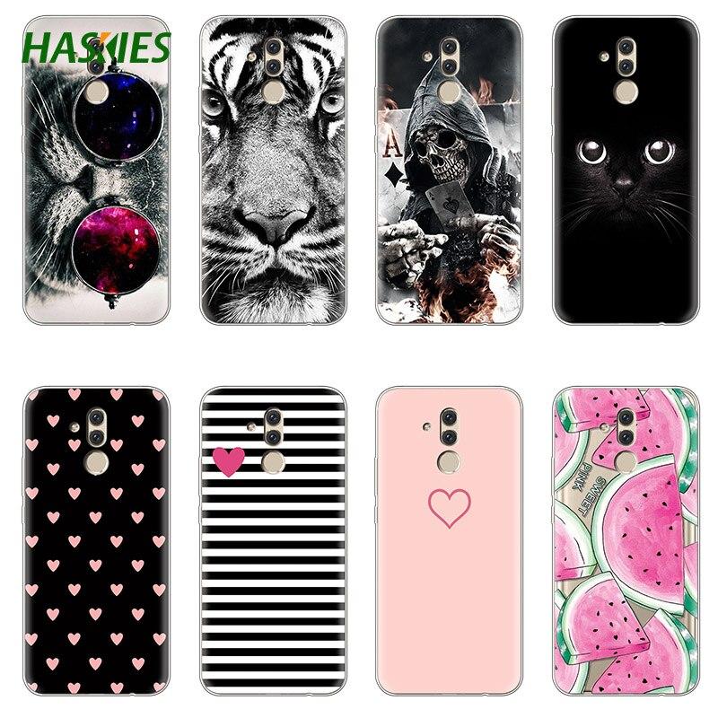 the latest 8f93b 6dc3b US $1.16 15% OFF TPU Soft Cat Case For Huawei Mate 20 Lite Case 6.3 inch  Transparent Silicone Phone For Huawei Mate 20 Lite Cover Coque fundas-in ...