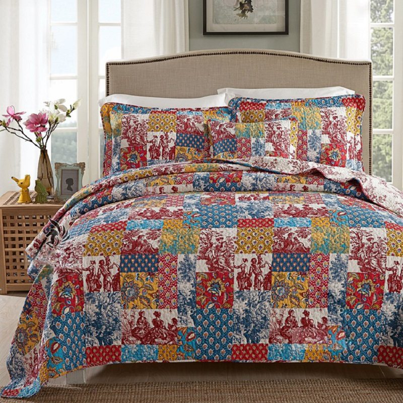 Chausub Summer Quilt Set 3pc 100 Cotton Quilts Quilted