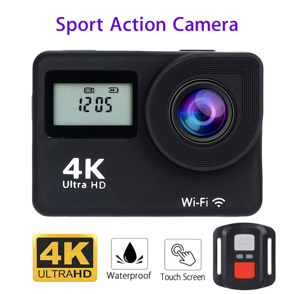 4K HD 1080P Wifi Sport Action Camera Touch Screen Helmet Waterproof DVR DV Video Recorder Camcorder Dual Screen + Remote Control h9 ultra hd 4k wifi 2 0 inch bicycle snorkeling surfing helmet sport camera video camcorder waterproof 30 meters under water