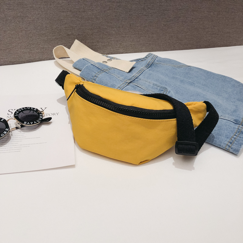 Casual Waist Bag For Women Girls Belt Bag Solid Kids Fanny Pack Black Red Yellow Baby Girl Summer Chest Bags Waist Packs