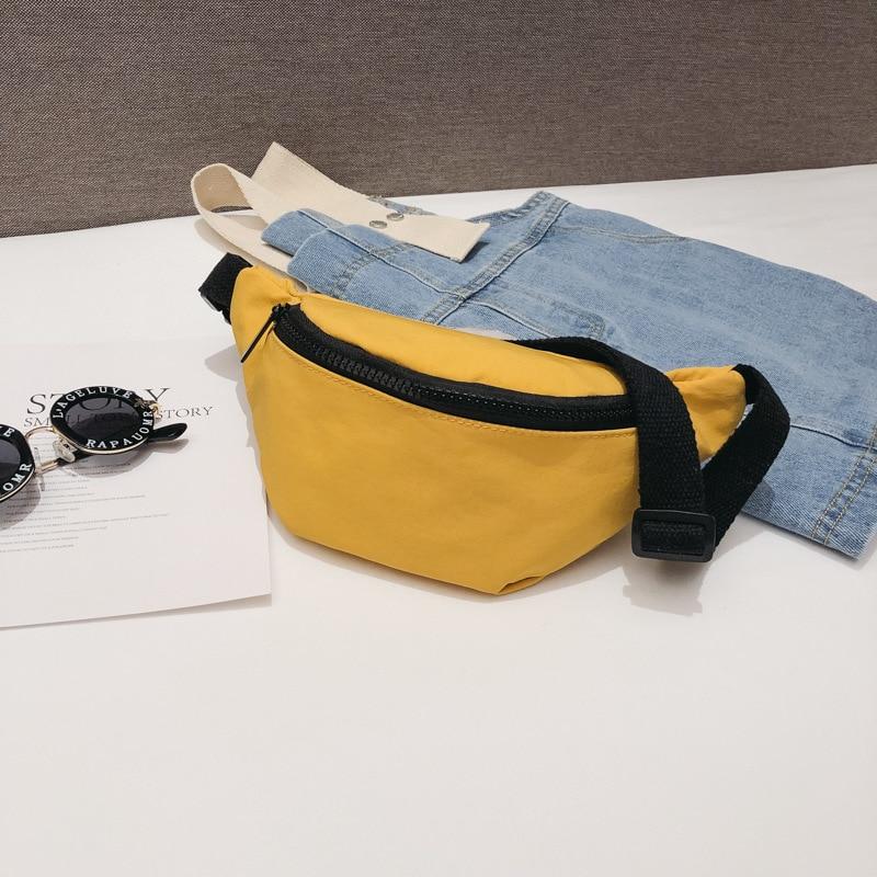 Casual Waist Bag For Women Girls Belt Bag Solid Kids Fanny Pack Black Red Yellow Baby Girl Summer Chest Bags Waist Packs