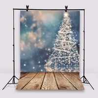 Photography Background Christmas Trees Photo Studio Props Wooden Floor Baby Backdrops Vinyl 5x7ft Or 3x5ft Jiesdx080