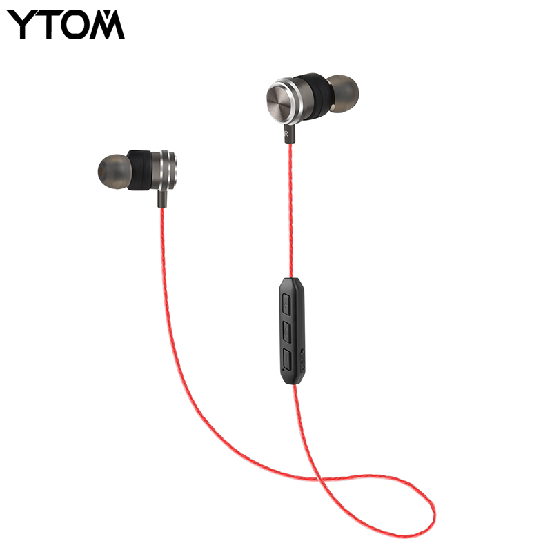 YTOM WT1 IPX5 Waterproof Wireless Headphone Apt-x Bluetooth Earbuds Magnetic Headset Earphones With Microphone For Phone Sport 2017 meizu ep51 bluetooth waterproof sport earphone headset for phone computer wireless earphones apt x with mic stereo headsets
