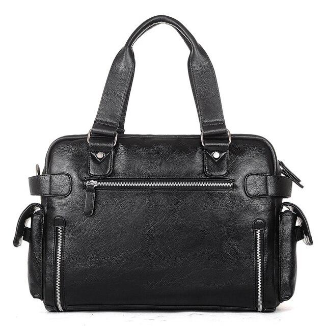 Brand Designer Travel Bag Leather Handbags Men's Casual Tote For Men Large-Capacity Portable Shoulder Bags Big Package XA214ZC 3