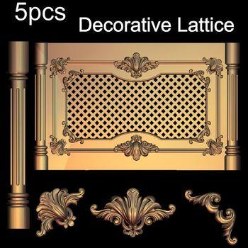 5pcs Decorative Lattice 3D Model STL relief for cnc STL format Decor 3D STL furniture decoration цена 2017