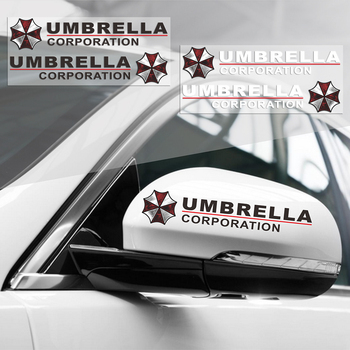 2PCS Umbrella Corporation Reflective Car Rearview Mirrow 3D Sticker And Decal For Vw Golf Polo Audi Bmw Ford Focus Opel Kia aliauto car styling umbrella corporation car sticker sports mind eyelid decal for bmw ford focus vw polo skoda golf audi opel
