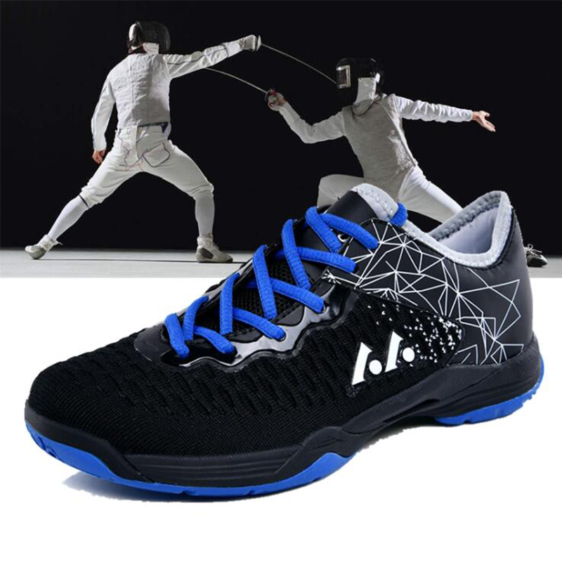 Professional Unisex Non-slip Fencing Shoes Breathable Shock Absorbing Sports Shoes Wear Competition Sports Shoes
