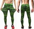 Mens Calças De Compressão Homens Leggings Skinny Calças Justas de Fitness Musculação Preto Quick Dry Calças Casuais Roupas de Marca