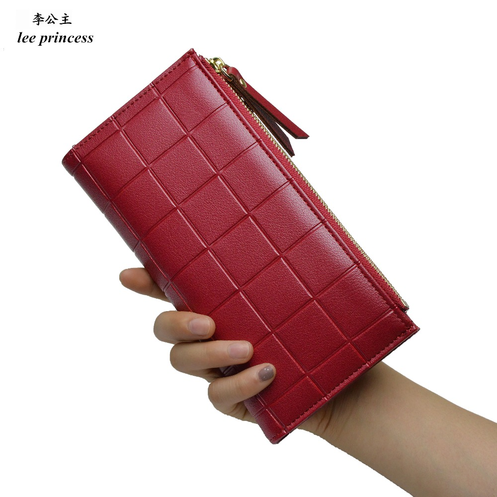 Lee Princess Wallet for Girls Phone With Double Zipper Coin Purse Holders Money Bag Ladies Purse Women Slim Wallets Female 3