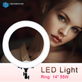 "Meking Camera Photo Video 18"" Outer 55W LED Ring Light 5500K Dimmable Photography Ring Video Light for Camera Fill Light"