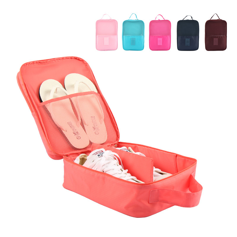 6 Colors Storage Bag Gym Sports Shoes Carry Cloth Cosmetic Bags Travel Luggage Portable Handbag Suitcase